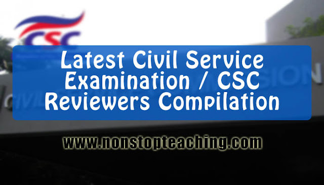 Latest Civil Service Exam Reviewers Compilation