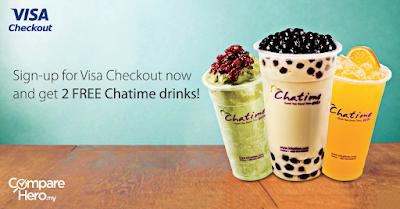Free Chatime Drinks Visa Checkout Sign Up CompareHero Malaysia