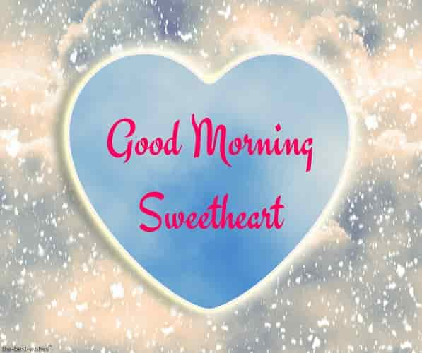 good morning sweetheart with blue heart