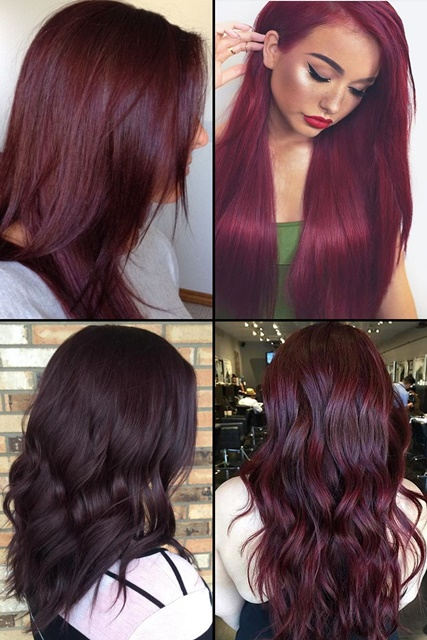 Color Styles For Long Hair: 9 Hottest Burgundy Hair Color Ideas For 2017