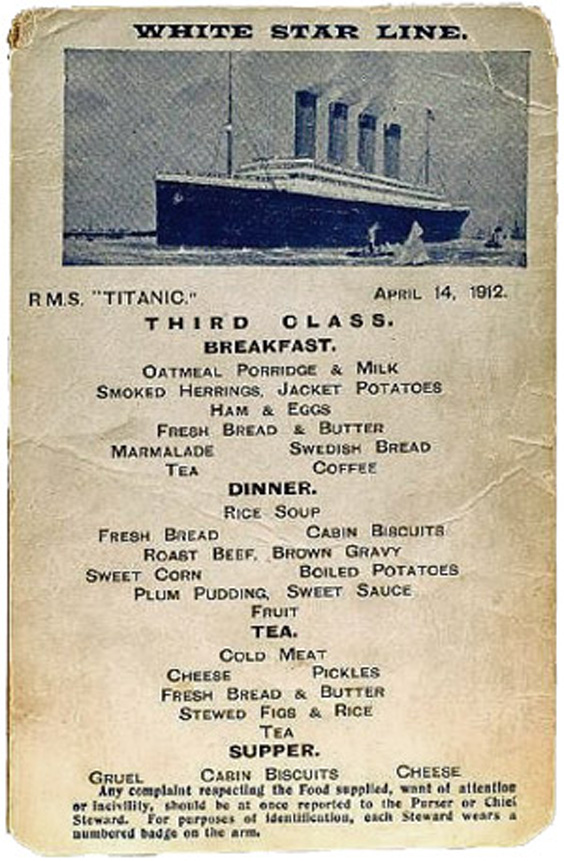 Gachas de avena para desayuno Titanic