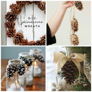 Decorazioni di natale fai da te con le pigne donneinpink magazine - Decorazioni natalizie per porte fai da te ...