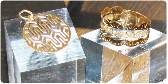 pendentif et bague or jaune  du Manège à Bijoux de E.Leclerc