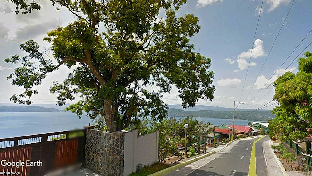 View of Taal Lake from Barangay Nangkaan in Mataasnakahoy.  Image source:  Google Earth Street View.
