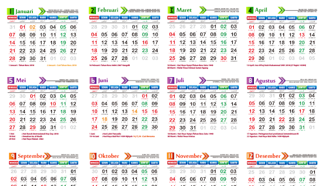 Download Kalender 2018 Versi Nida S Design Sman 1 Tumijajar