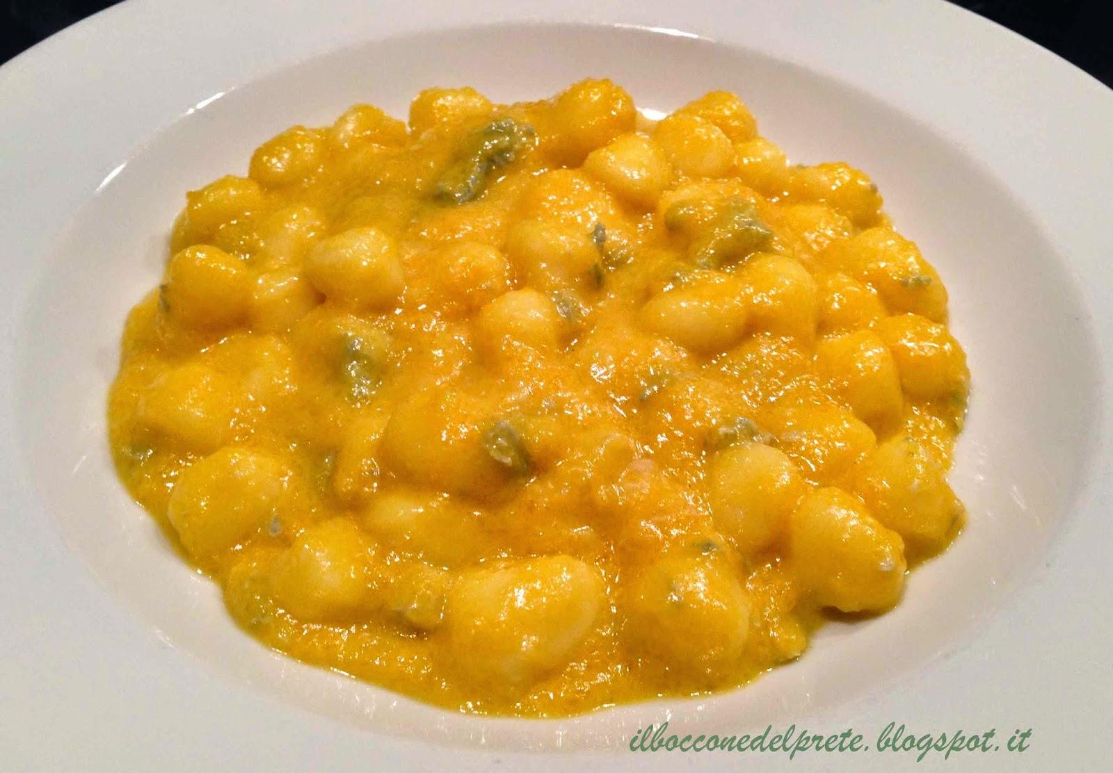 Ricette Gnocchi Con Zucca.Il Boccone Del Prete Gnocchi Con Crema Di Zucca E Gorgonzola