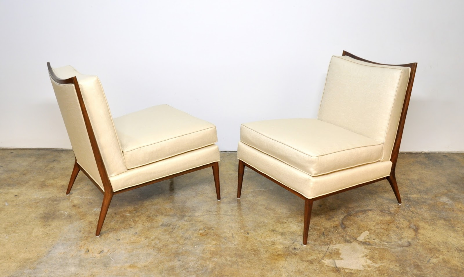 pair of paul mccobb for directional slipper chairs