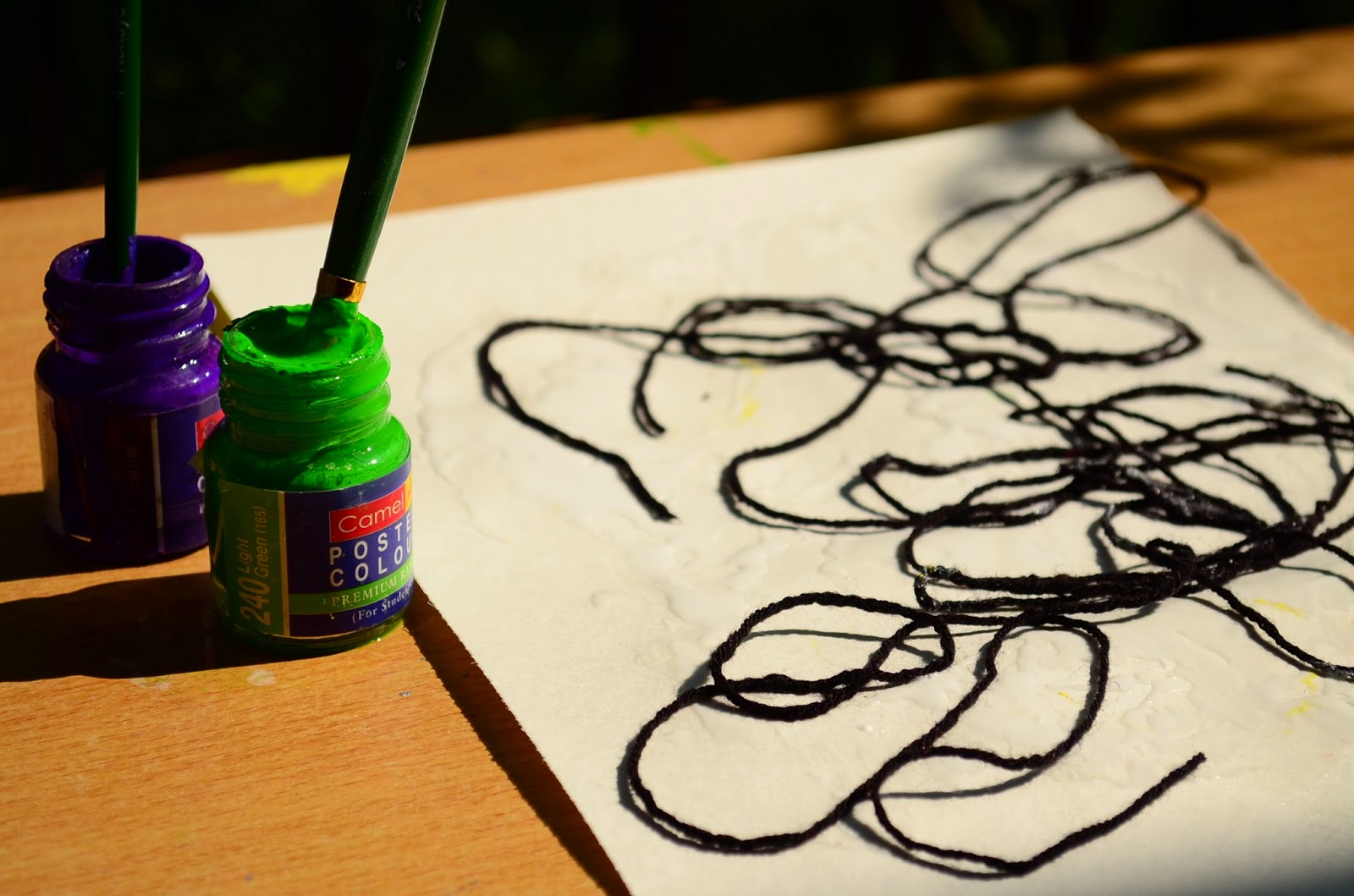 Kids Activity: Painting with Yarn