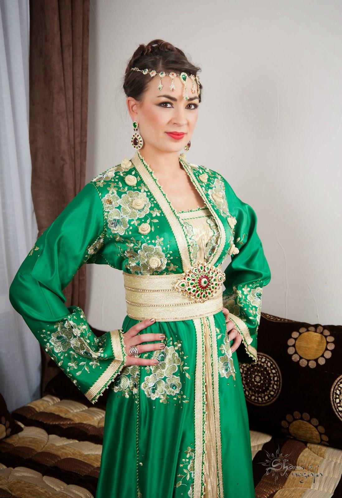 Caftan 2016 Vert Haute Couture - Caftan Marocain