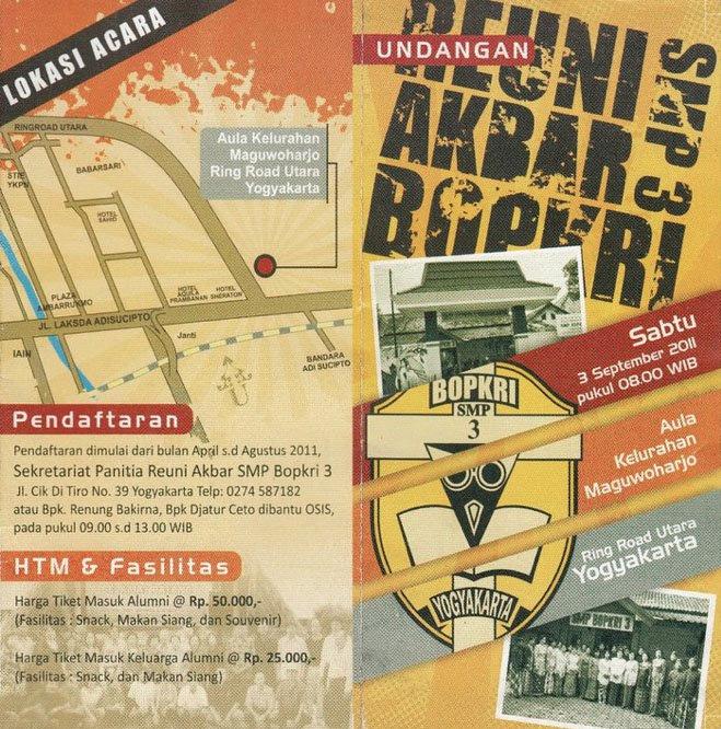 Alumni Smp Bopkri 3 Yogyakarta Undangan Reuni Akbar Smp Bopkri 3