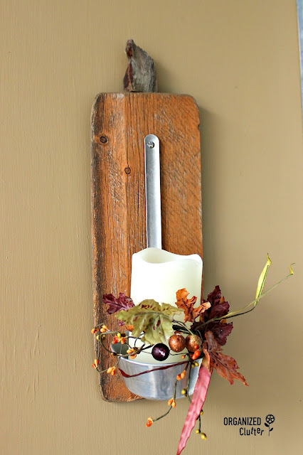 Fall Vignettes From A Rustic Covered Patio www.organizedclutter.net