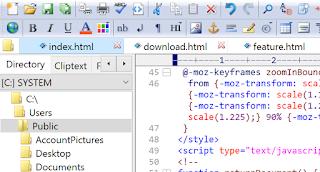محرر لغة HTML