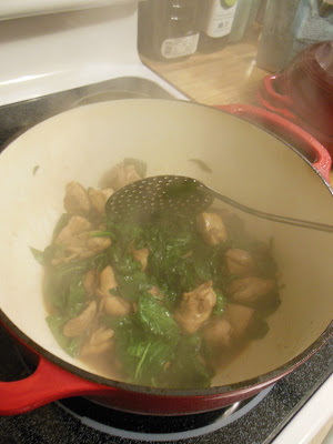 There Cup Chicken and Spinach Stir-fry, inspired from Parts Unknown, with Anthony Bourdain.