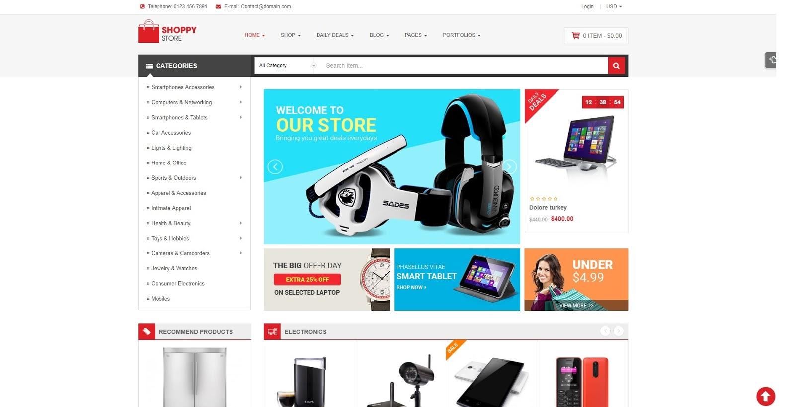 ShoppyStore v3.2.0   Wordpress Của hàng