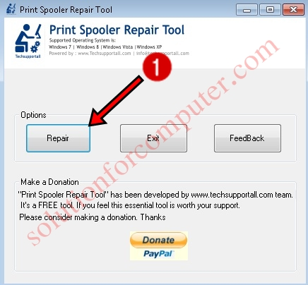 Print spooler Repair tool by techsupportall.com