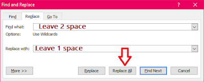How to Remove All Extra Spaces in-between Words (MS Word 03-16),how to remove double space from words,remove extra space inbetween words,how to remove,how to delete,remove all extra space,all extra spaces from words,remove double space,remove all extra spaces inbetween words,how to do,find and replace,word 2007,2013,2016,word tips,remove spaces,all spaces remove,2 spaces remove,all extra spaces,replace all extra spaces