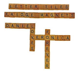 Personalized alphabet letter tiles