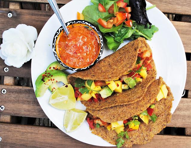 tacos-vegan-masa-flax-tortilla-mango-chili