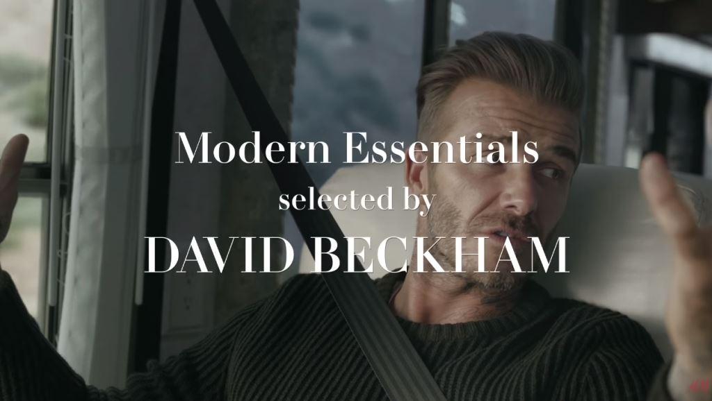 pubblicita h&m testimonial david bekcham essentials spot 2016