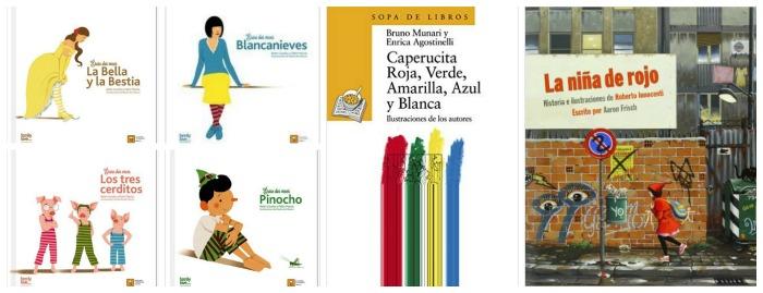 selección de cuentos clásicos actualizados, coeducación, igualdad genero, romper esteriotipos, no violentos ni sexistas