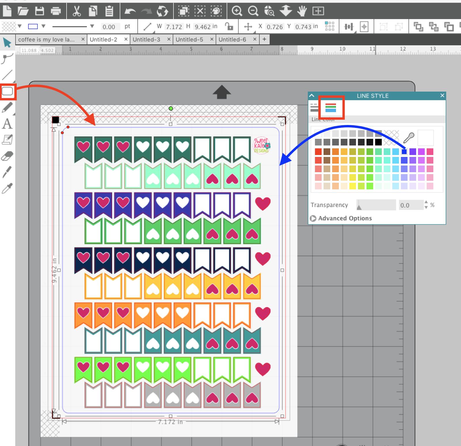 graphic regarding Printable Sticker Sheets named Advertising and marketing Sticker Sheets: Silhouette Studio Secrets toward Eliminating