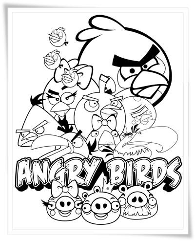 Ausmalbilder zum Ausdrucken: Ausmalbilder Angry Birds