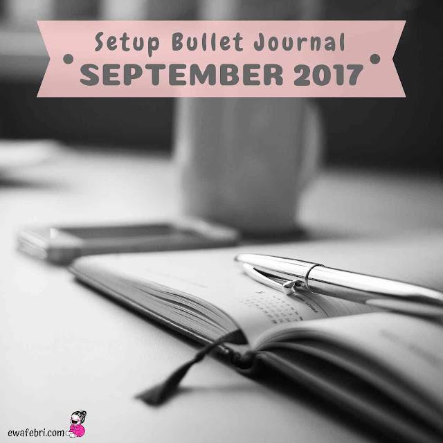 setup bujo september 2017