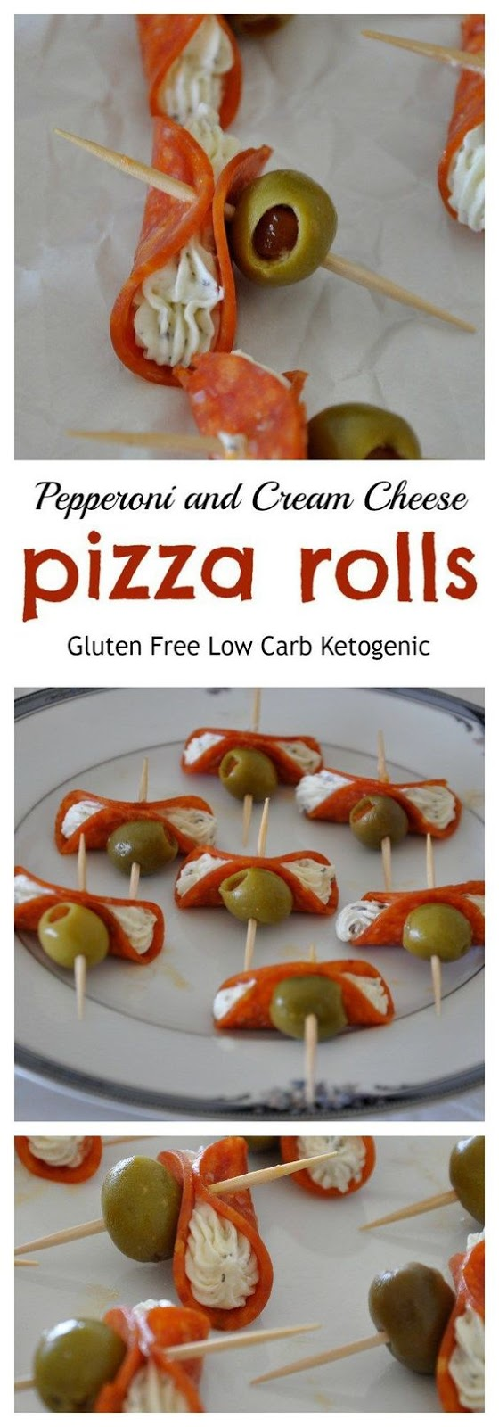 Pepperoni and Cream Cheese Pizza Rolls - Gluten Free #APPETIZER #GLUTEN FREE