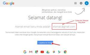 sukses membuat email