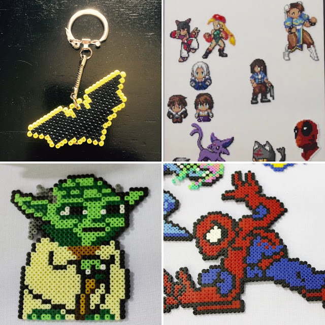 pixel art star wars batman spider-man deadpool