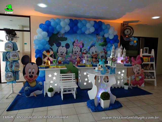 Decoração festa Baby Disney - Aniversário infantil decorado em mesa provençal