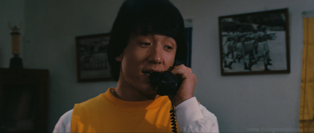 Jackie Chan on the phone