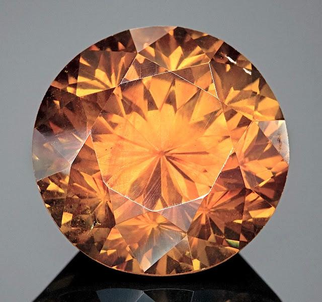 a cut sphalerite gem