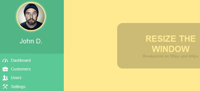 Fully responsive CSS3 menu