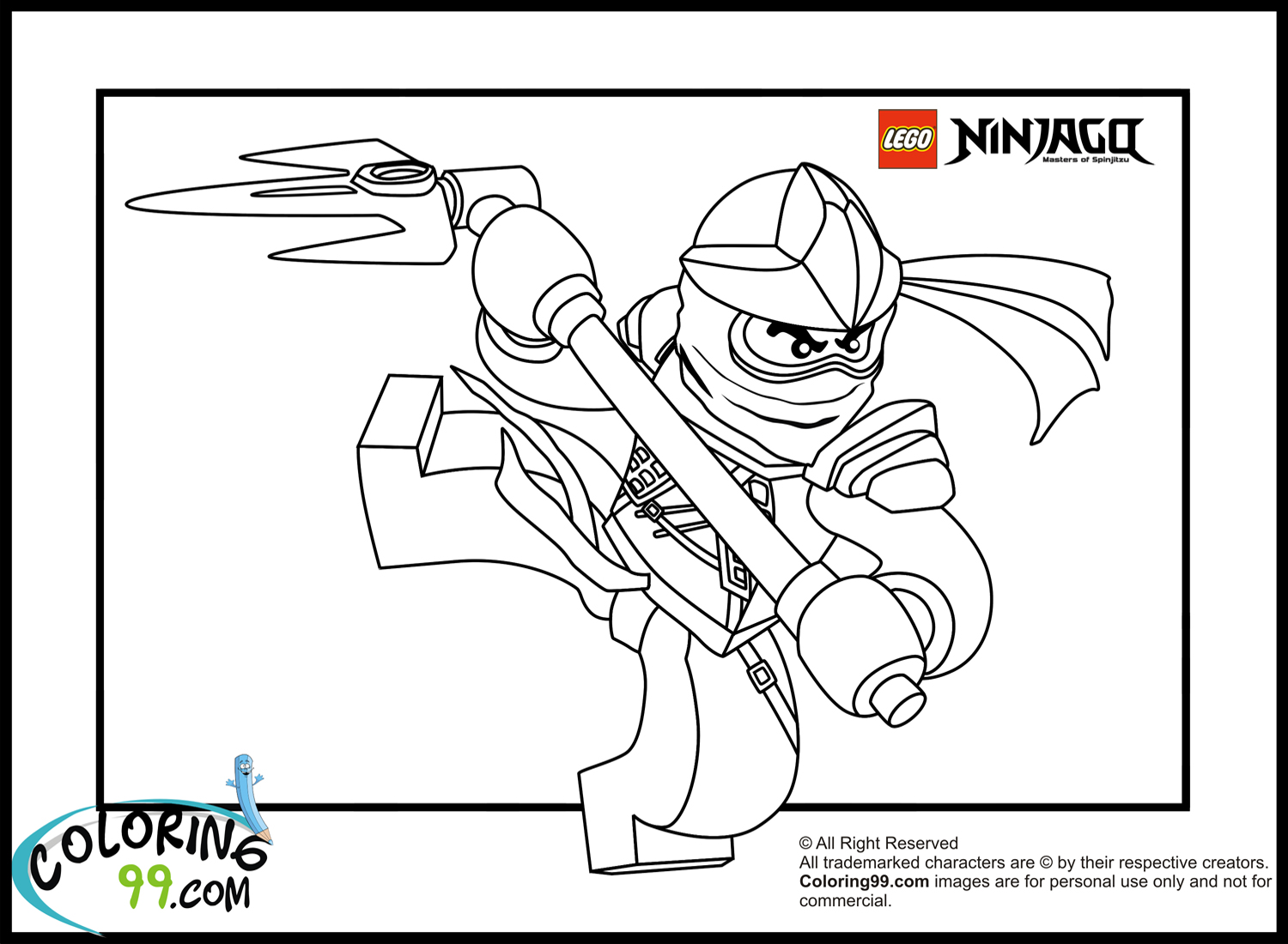 Lego ninjago cole coloring pages team colors for Lego ninjago coloring pages cole