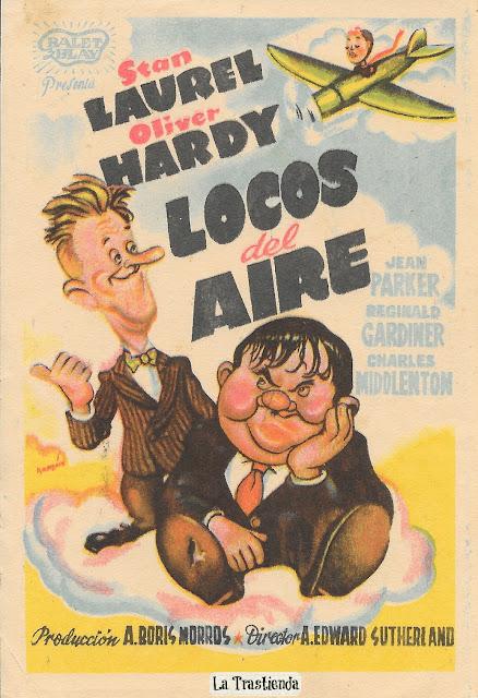 Programa de Cine - Locos del Aire - Stan Laurel - Oliver Hardy - Jean Parker