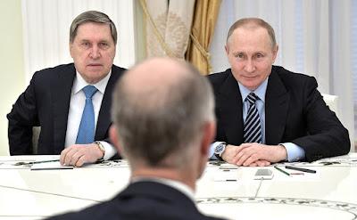 Vladimir Putin, Yury Ushakov.
