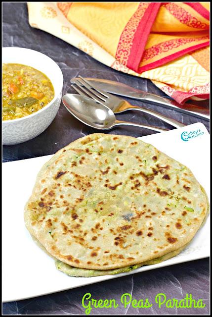Green Peas Paratha Recipe | GreenPeas Stuffed Indian Flat Bread