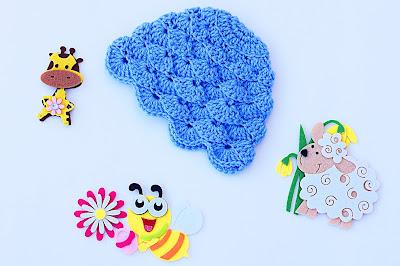 2 - Imagen gorro chambrita de abanicos en relieve a crochet. Majovel crochet