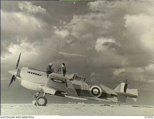 Curtiss Tomahawk fighter in the Western Desert, 23 December 1941 worldwartwo.filminspector.com