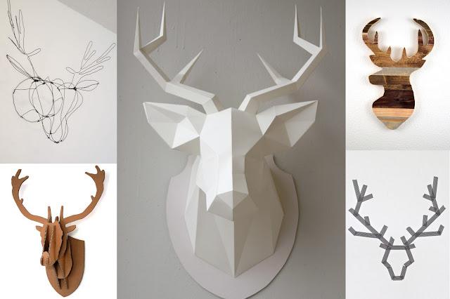 Jeleń z papieru, drewna, kartonu lub drutu DIY