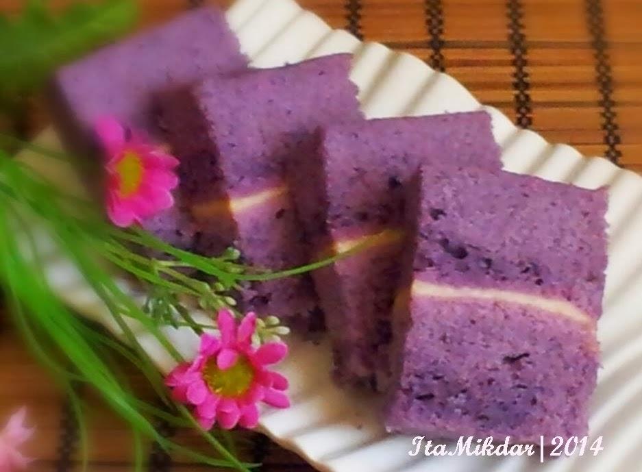 Resep Cake Ubi Ungu Kukus Sajian Sedap: Dapur Griya Khayangan: Bolu Kukus Ubi Ungu Lapis Keju