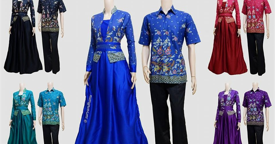 Baju batik couple muslim srg 307 Baju gamis nevada