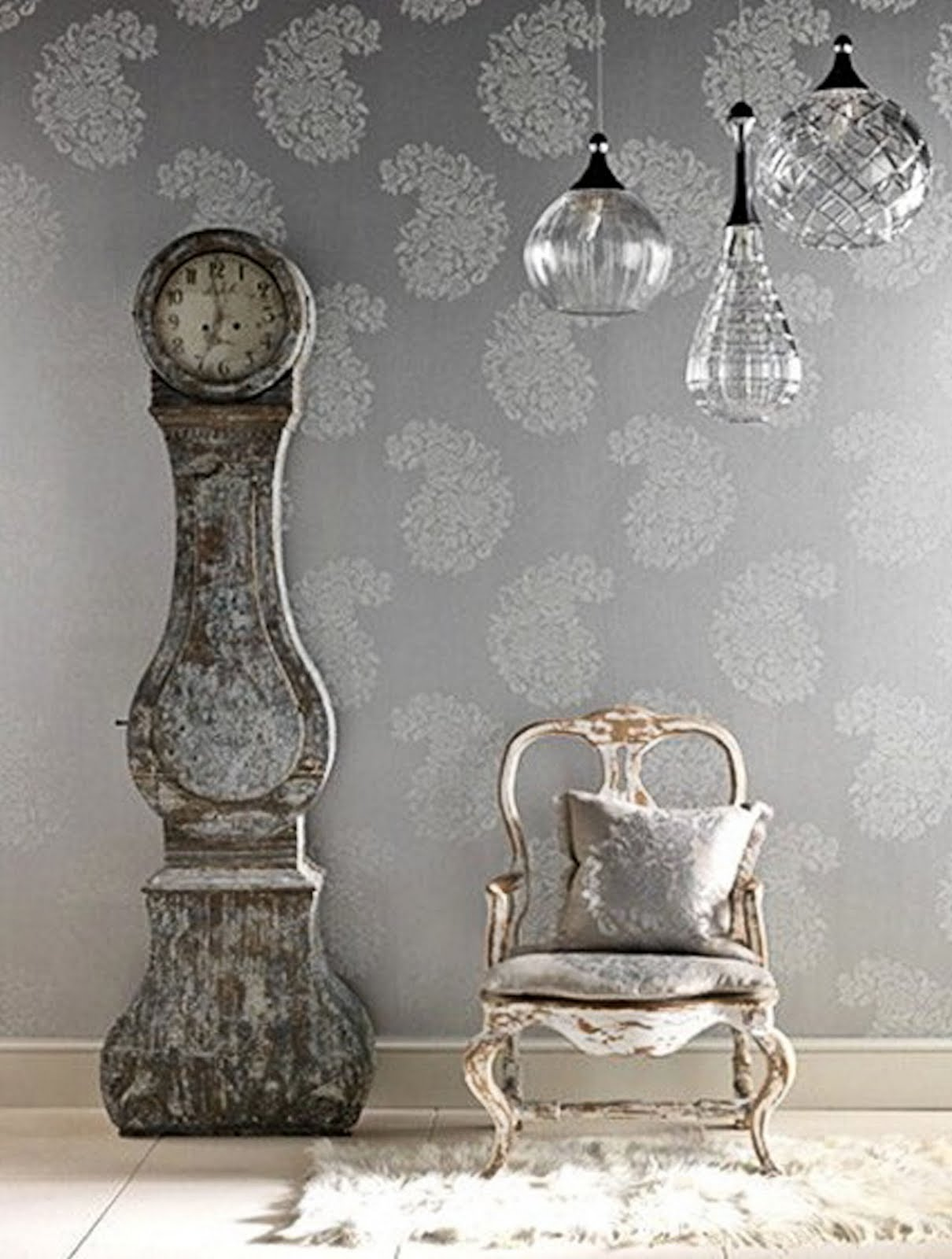 Home Interior Vintage Figurines Simple Everyday Glamour For The Love Of Grey