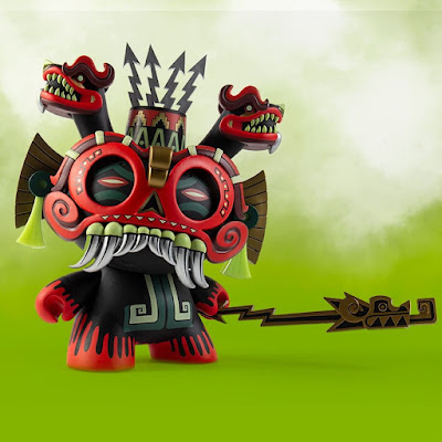"Kidrobot.com Exclusive Tlaloc Dunny 8"" Vinyl Figure by Jesse Hernandez x Kidrobot"