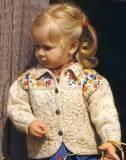 Жакет для девочки с вышивкой