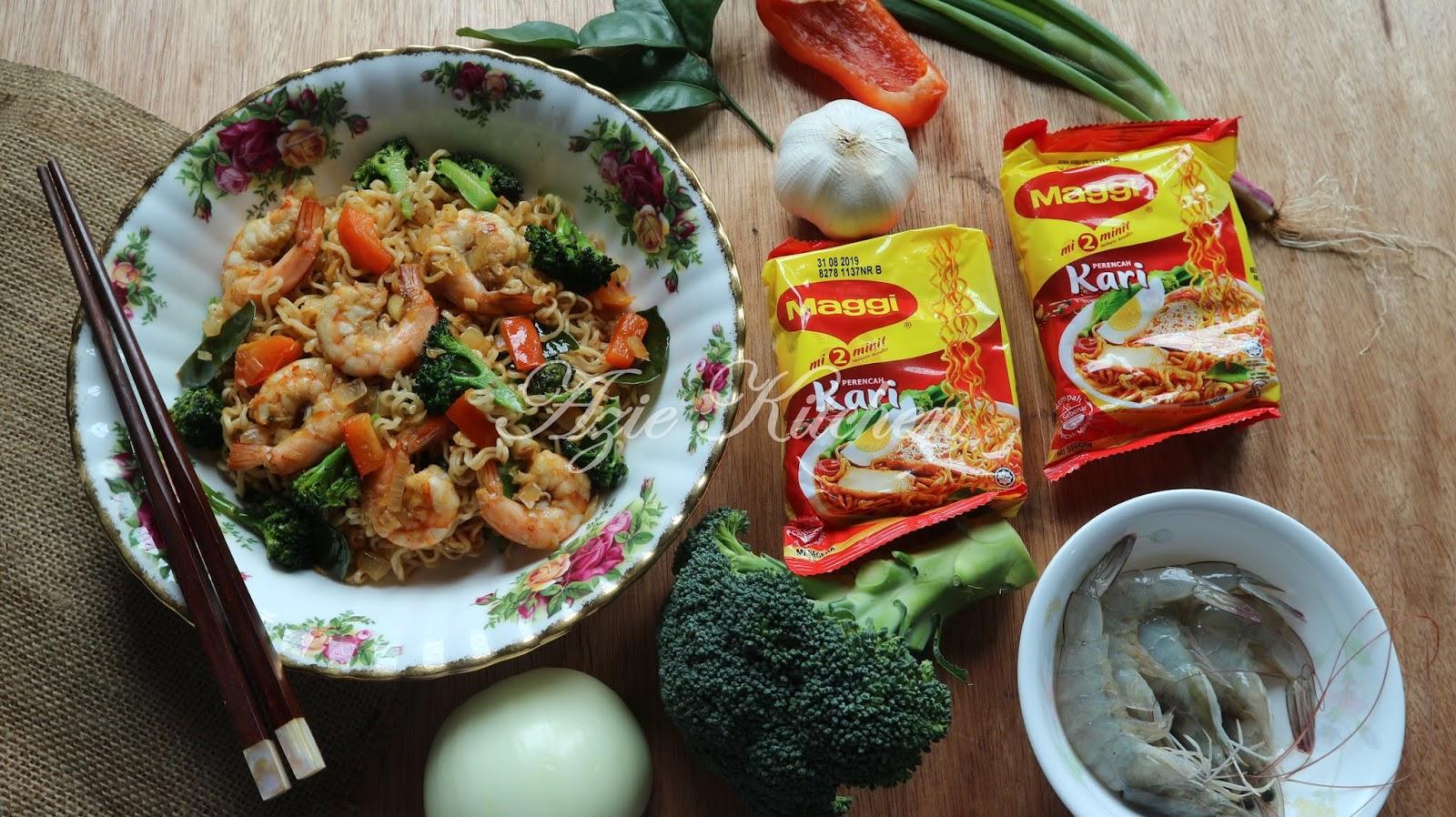 Maggi Kari Goreng Sayuran Yang Sedap Azie Kitchen