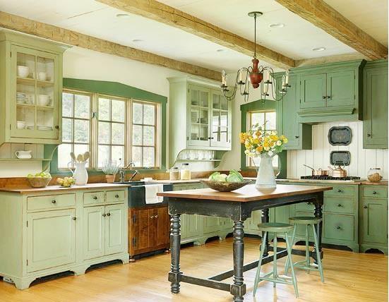 15 fotos de cocinas verdes