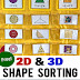 2D & 3D Shapes Sorting Cards + Apple to Zebra Pocket Chart