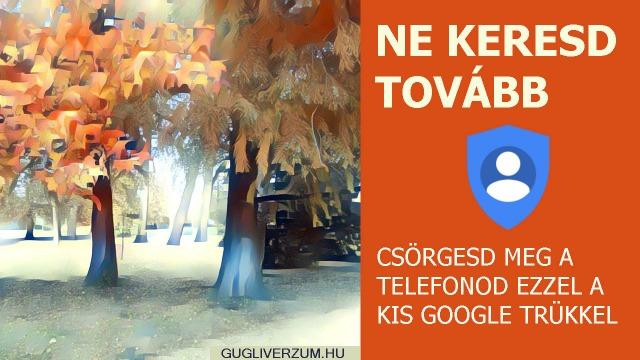 Telefon kereső a Google Eszközkezelővel